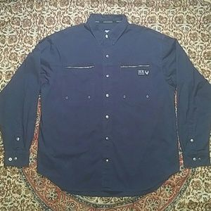 Harley Davidson Snap Button Embroidered Shirt, XL